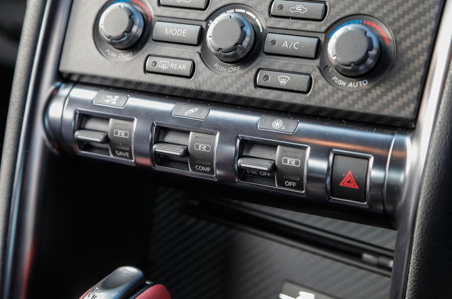 Nissan GT-R centre console