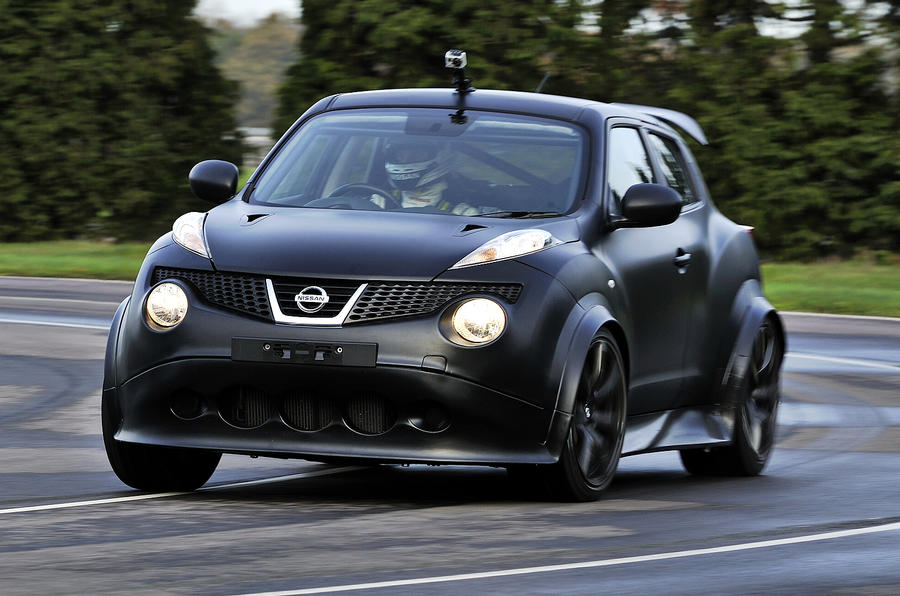 Nissan Juke-R hits the track