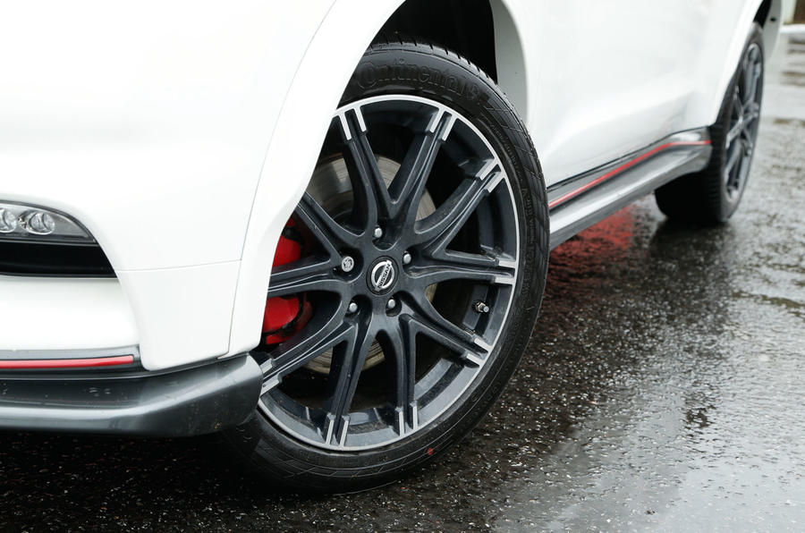 The Nismo RS continues to get flared wheel arches distinguishing it from a standard Nissan Juke