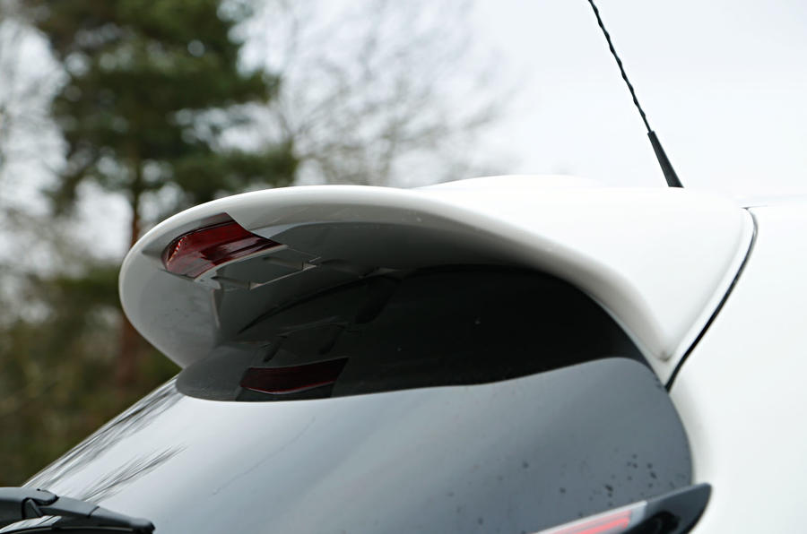 Nissan has fettled the rear spoiler on the Juke Nismo RS for better airflow
