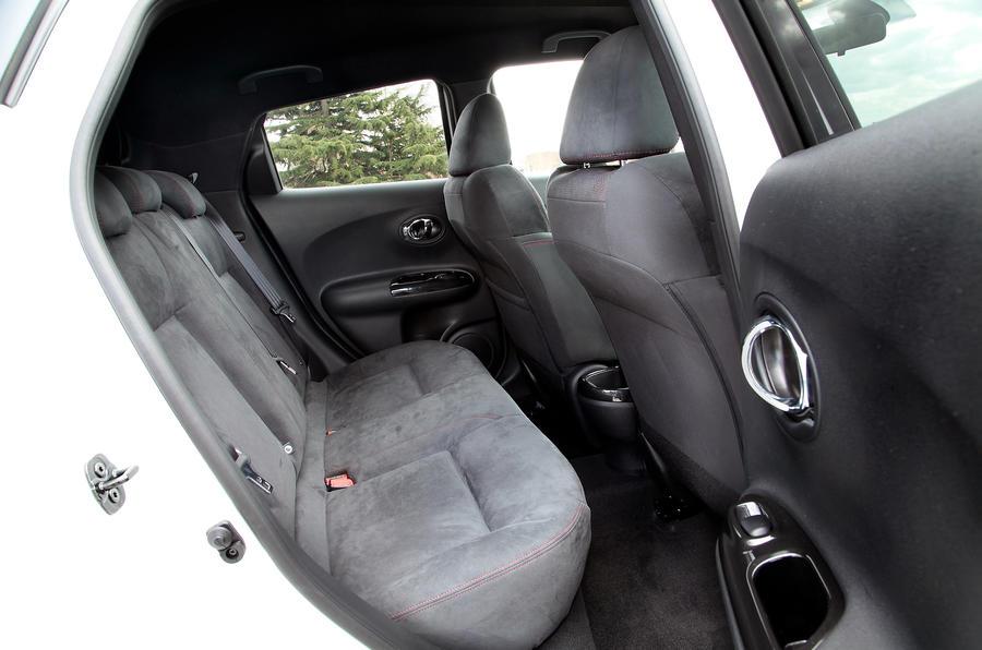 Nissan Juke Nismo rear seats