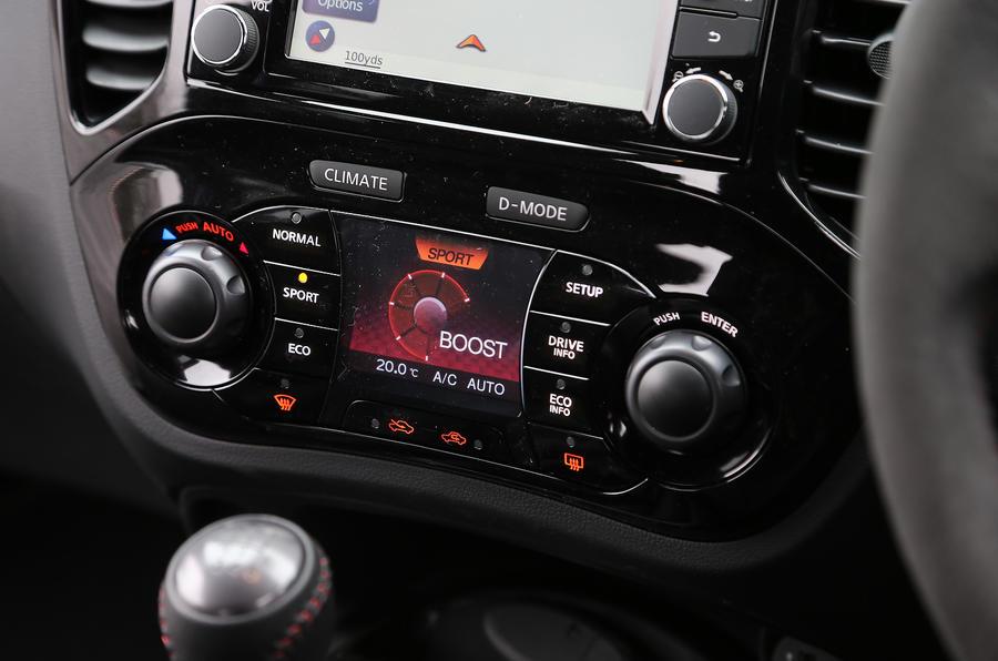 Nissan Juke Nismo instrument cluster