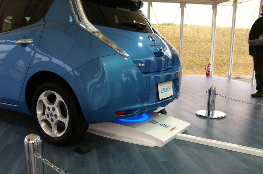 Wireless charging for Nissan Leaf