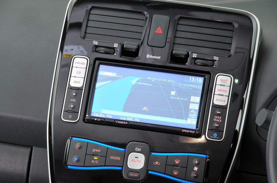 Nissan Leaf infotainment system