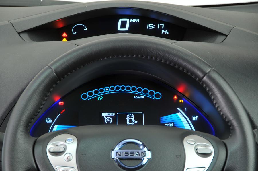 Nissan Leaf instrument cluster