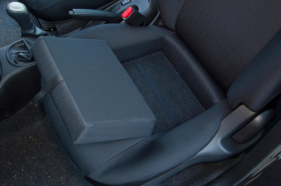 Nissan Micra front seat storage