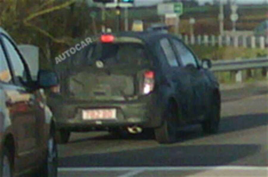 New Nissan Micra spied