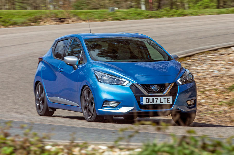 Nissan Micra cornering