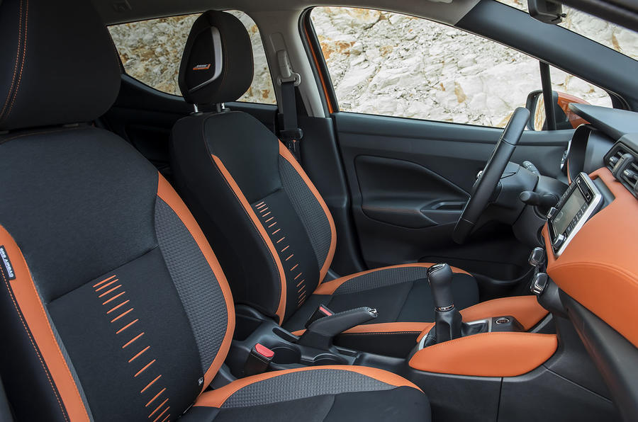 Nissan Micra front seats