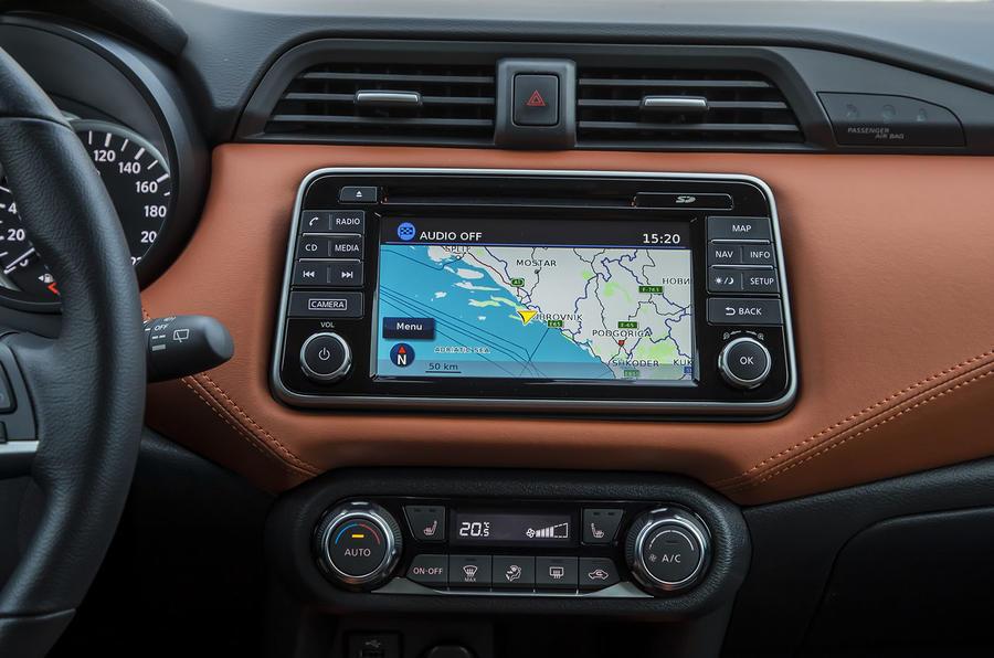 Nissan Micra infotainment system