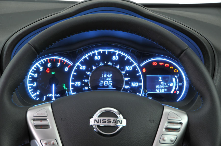 Nissan Note instrument cluster