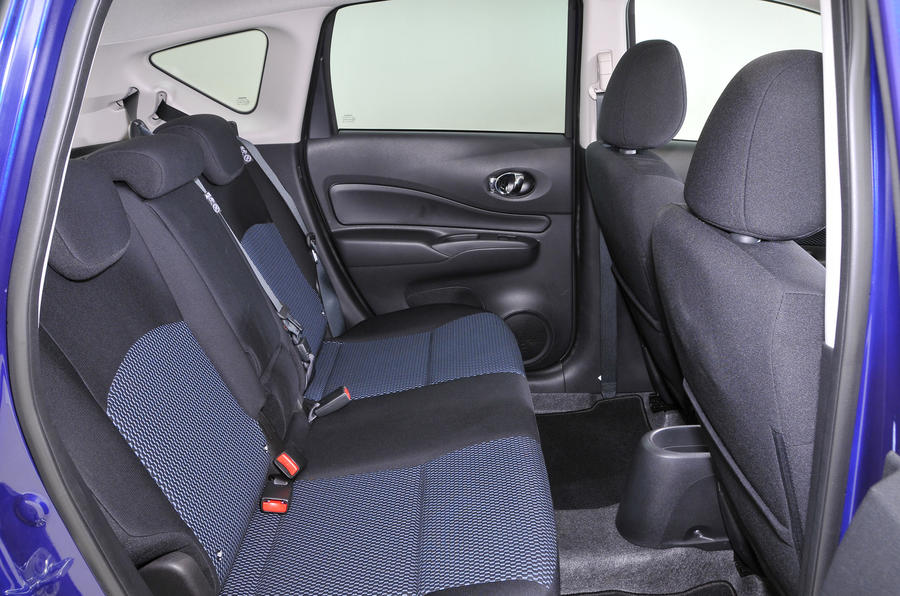 Nissan Note rear seats