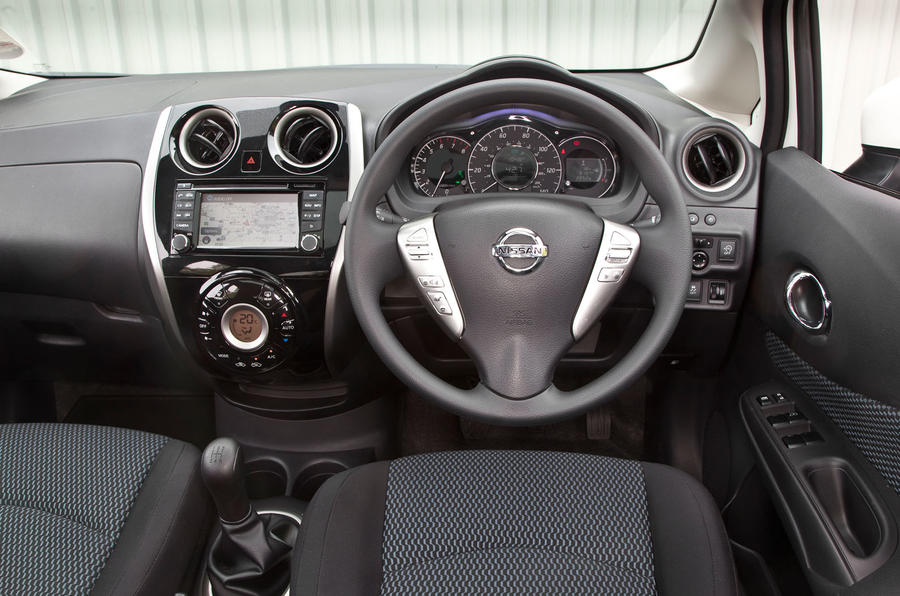 Nissan Note dashboard