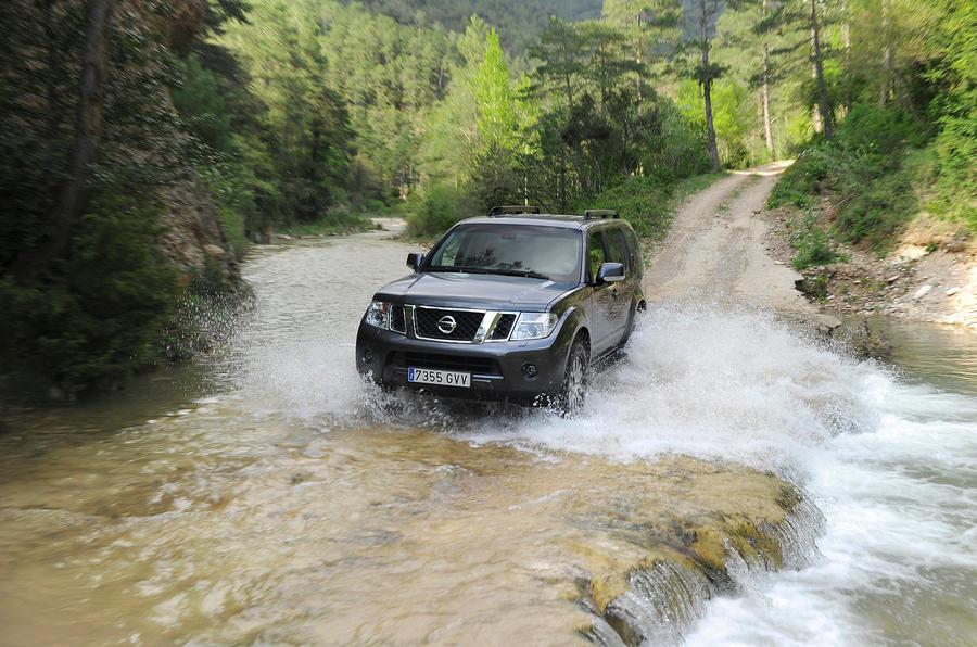 Nissan Pathfinder off-roading