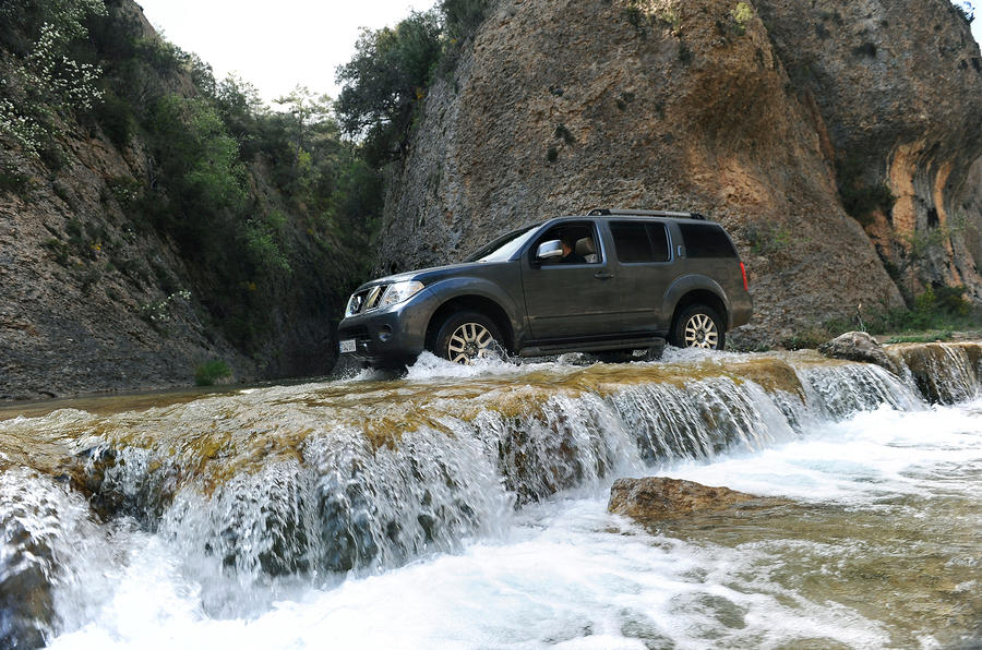 Nissan Pathfinder off-roading