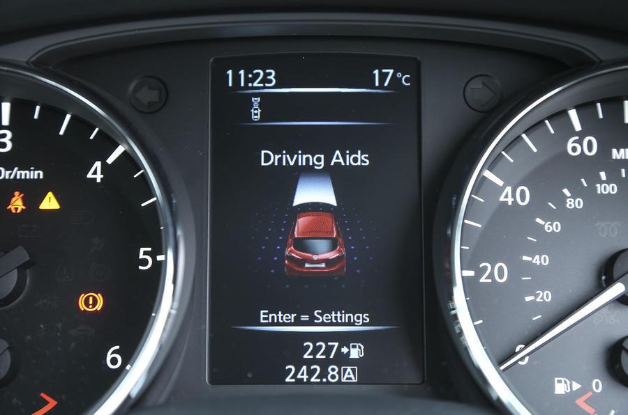 Nissan Pulsar information display