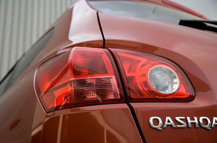 Nissan Qashqai rear lights