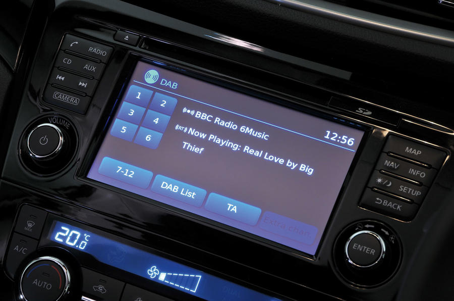 Nissan Qashqai infotainment