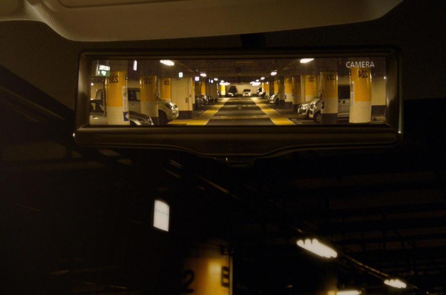 Nissan reveals LED rear-view mirror tech