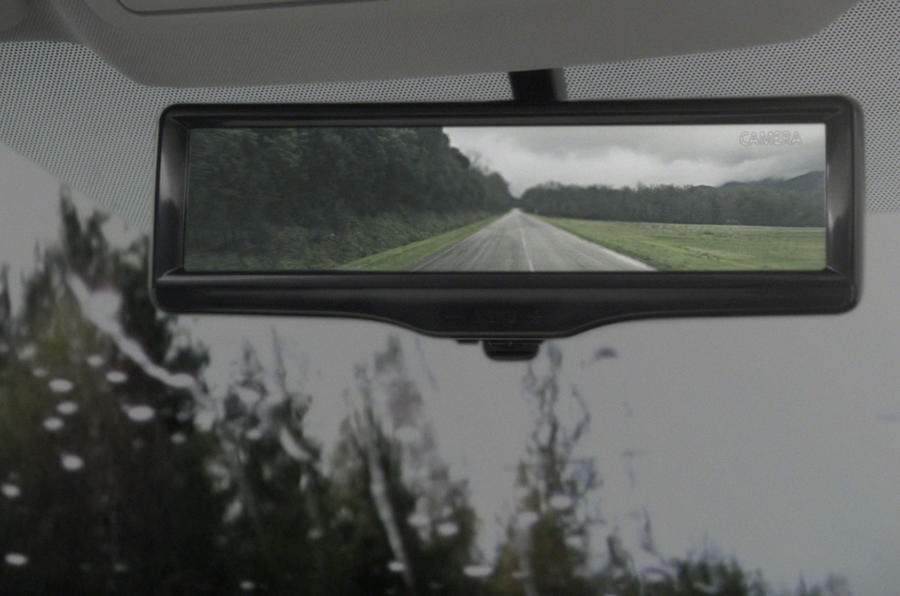 Nissan reveals LED rear-view mirror tech