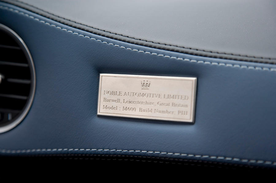 Noble M600 builder's plaque