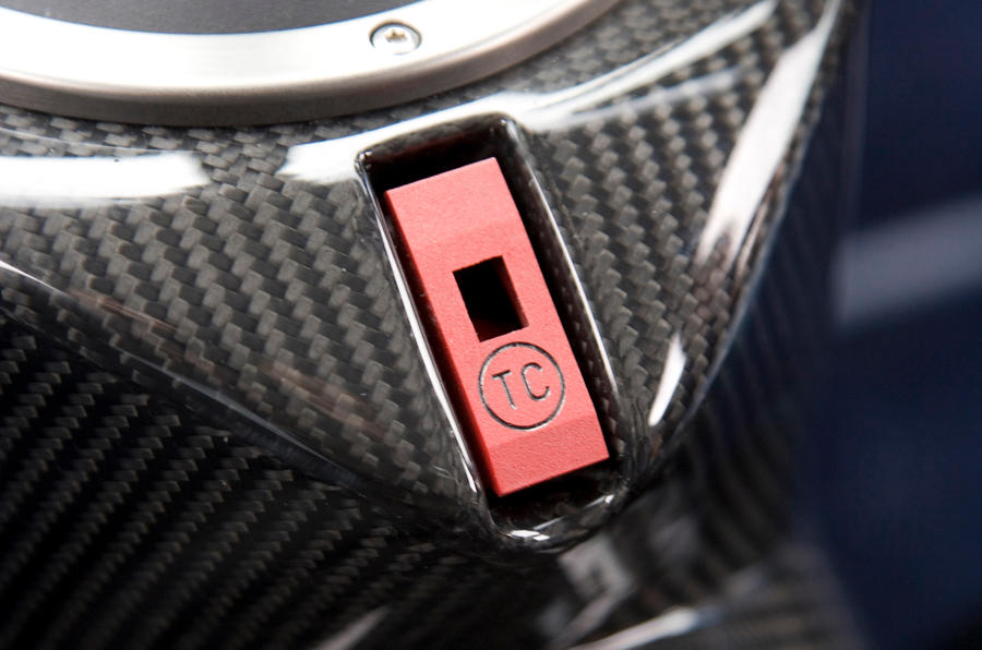 Noble M600 traction control button