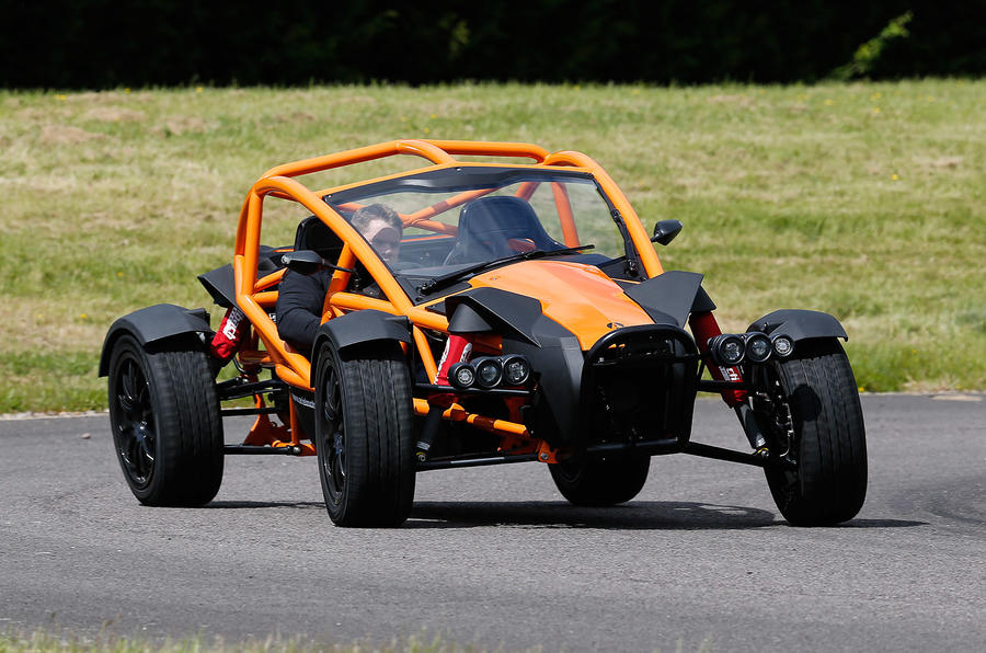 0-60mph in 4.5 secs by the Ariel Nomad