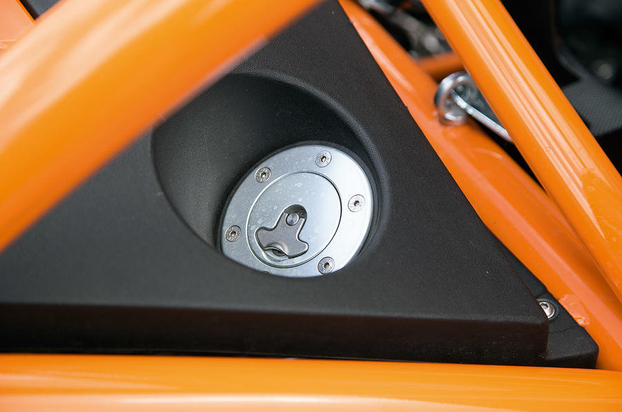 Fuel cap on Ariel Nomad