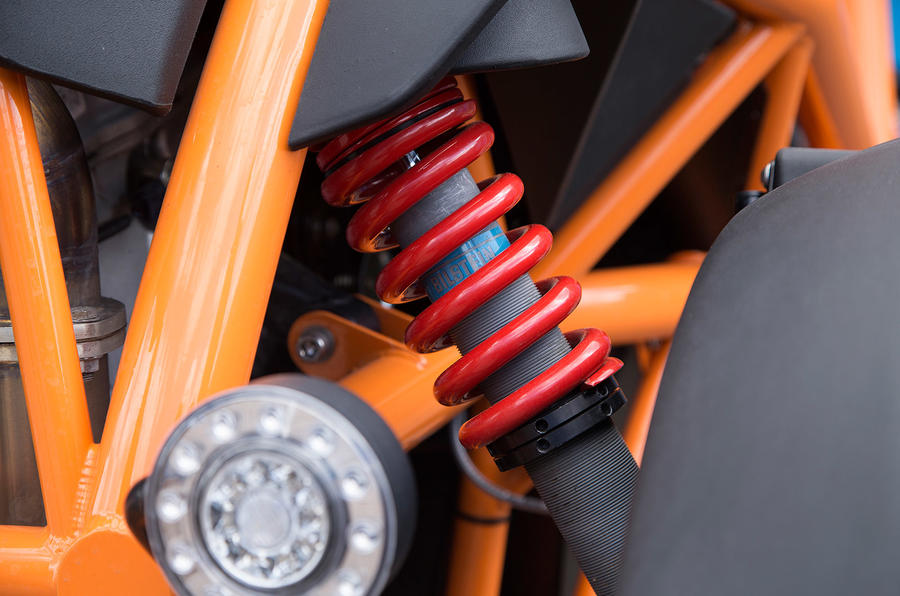 Ariel Nomad's suspension spring