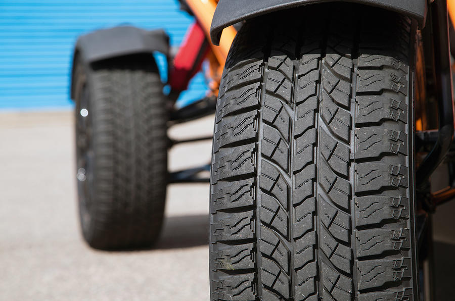Rough terrain tyres on the Ariel Nomad