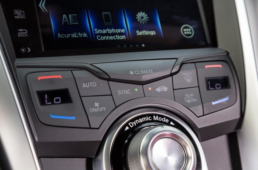 Honda NSX climate control switchgear