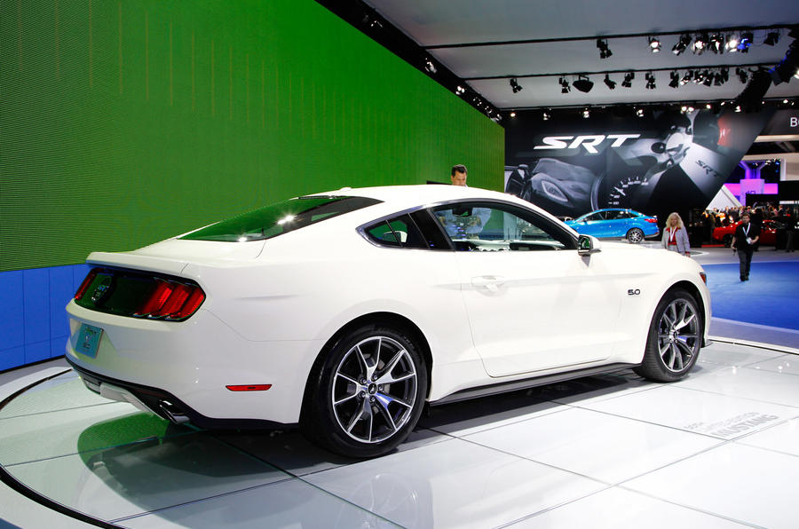 50th anniversary Ford Mustang shown