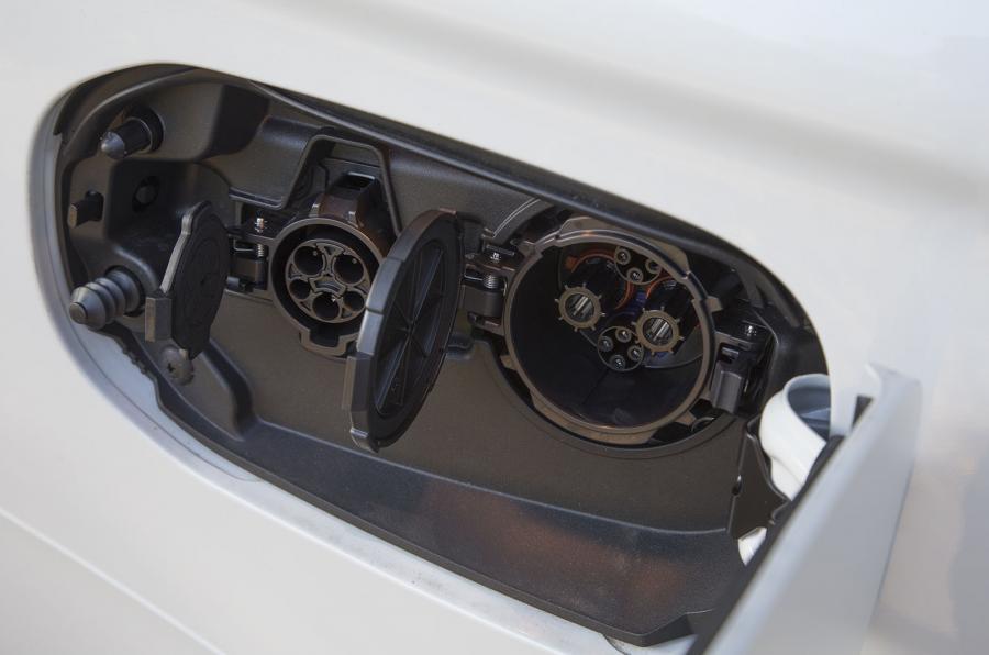 Mitsubishi Outlander PHEV charging port
