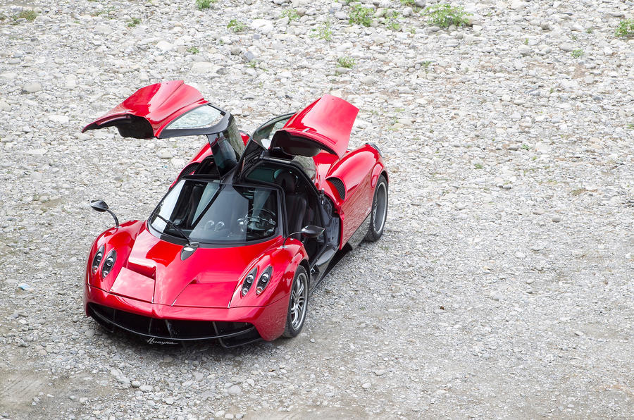 Pagani Huayra gullwing doors opened