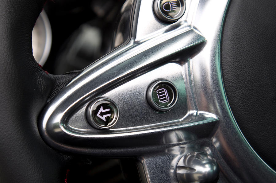 Pagani Huayra steering wheel buttons