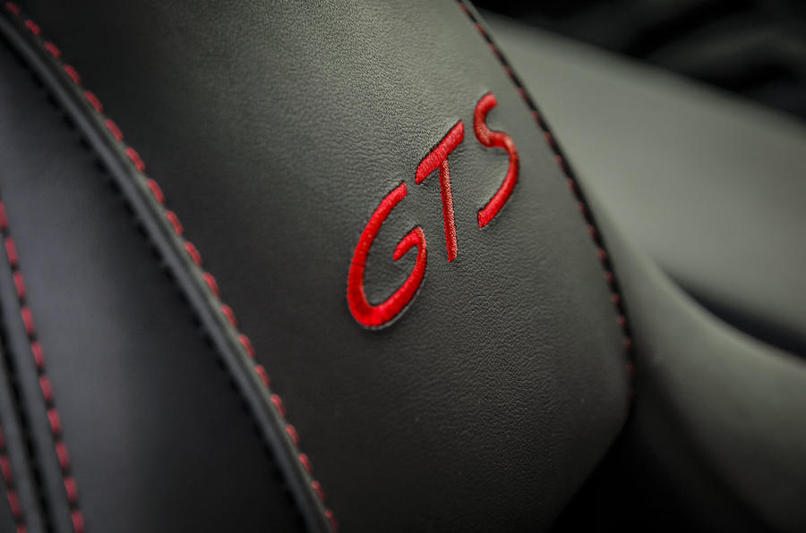 Porsche Panamera GTS seat stitching