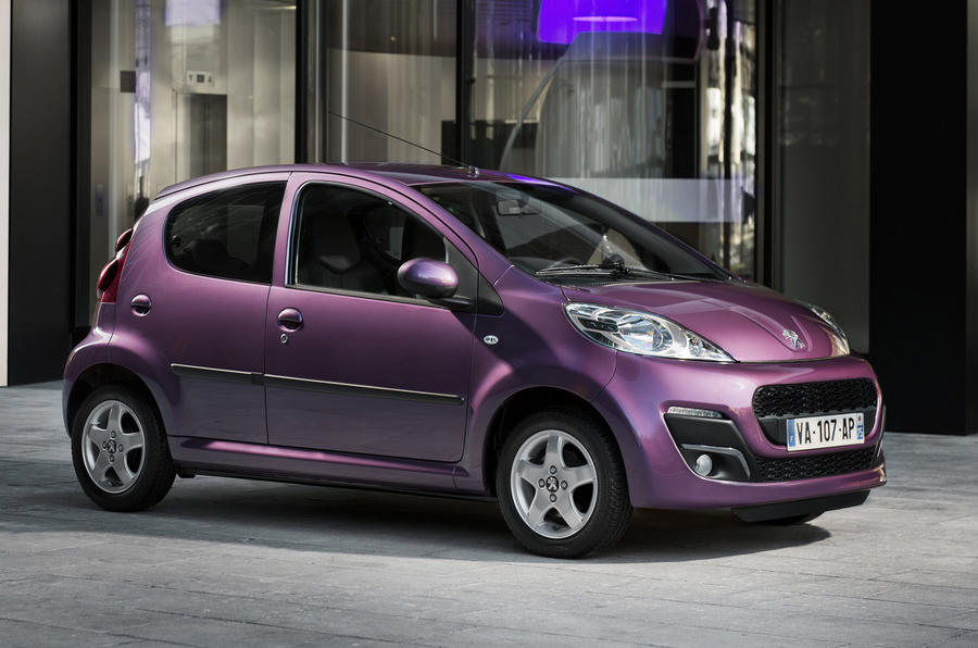 Revised Peugeot 107 uncovered