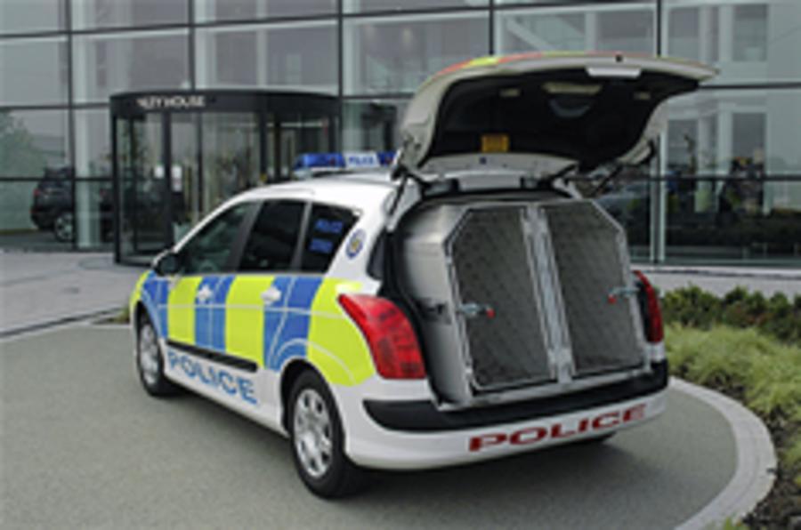 Peugeot 308 SW police dog van