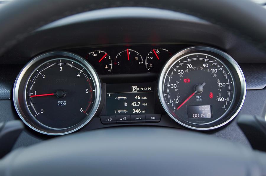 Peugeot 508 instrument cluster