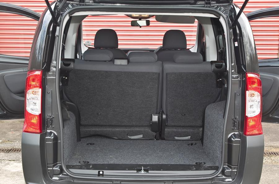 Peugeot Bipper Tepee boot space