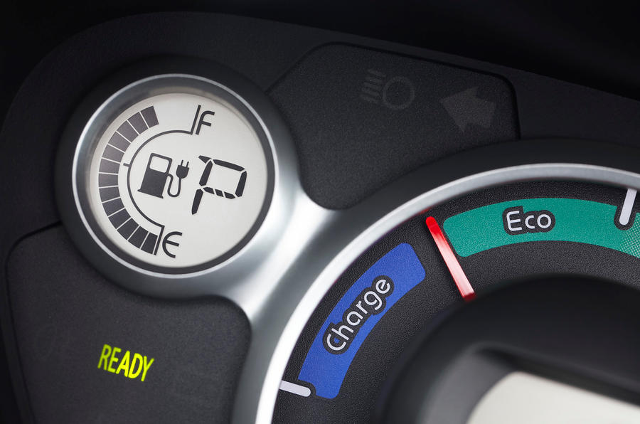 Peugeot iOn power gauge