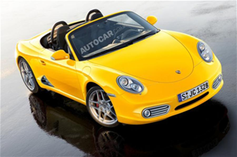 Baby Porsche 'on ice'