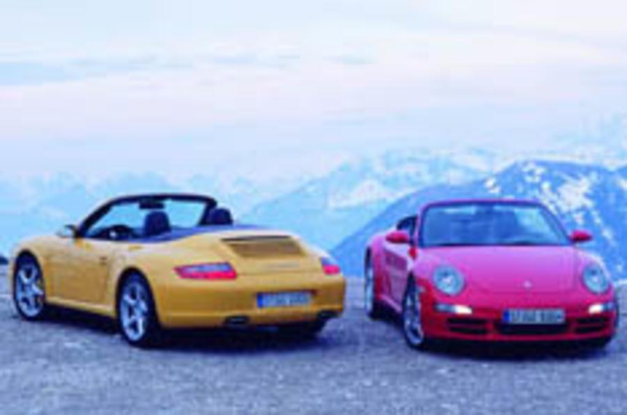 Porsche cabrio gets a grip