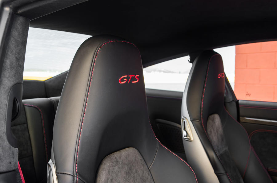 Porsche 911 Carrera 4 GTS badged seats