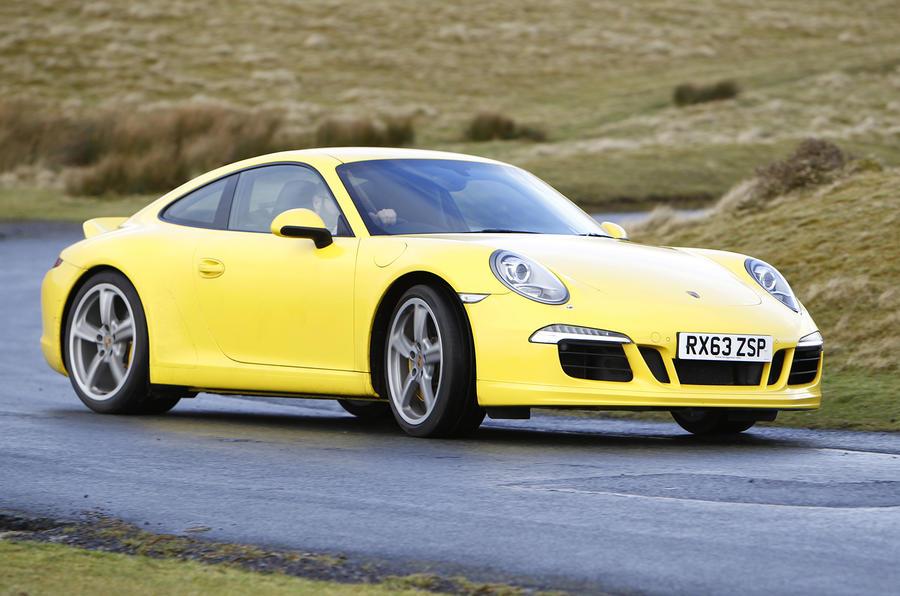 Porsche 911 cornering