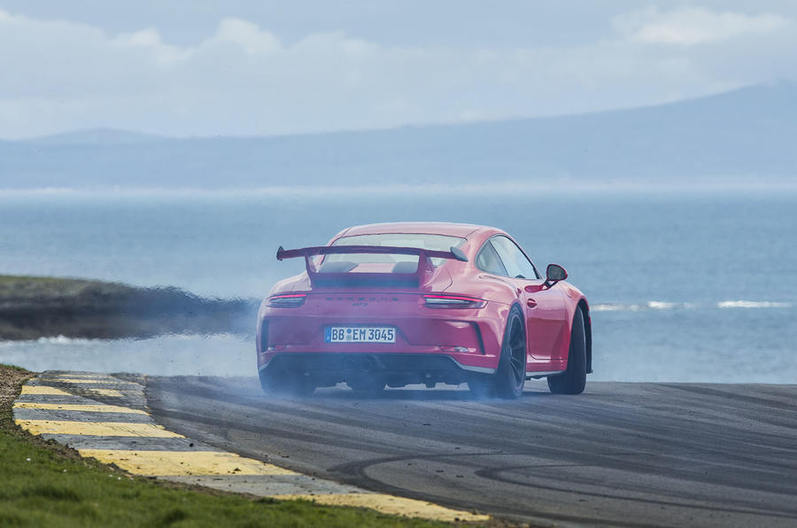 Porsche 911 GT3 rear drifting