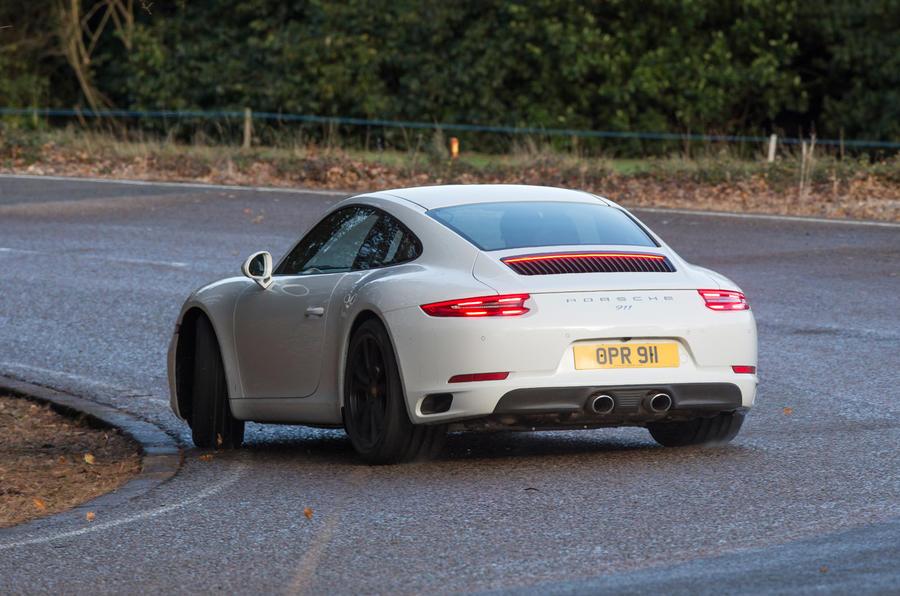 Porsche 911 rear cornering