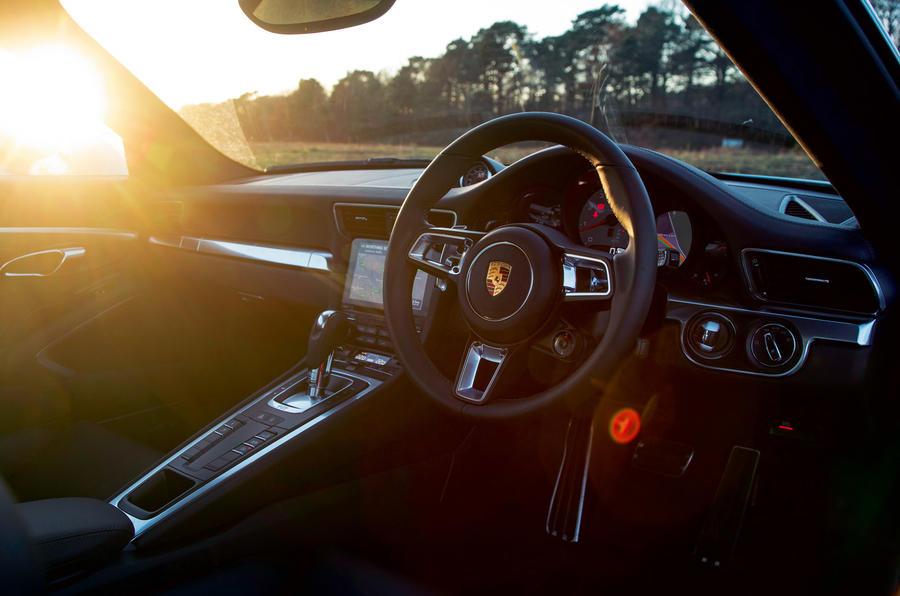 Porsche 911's cabin