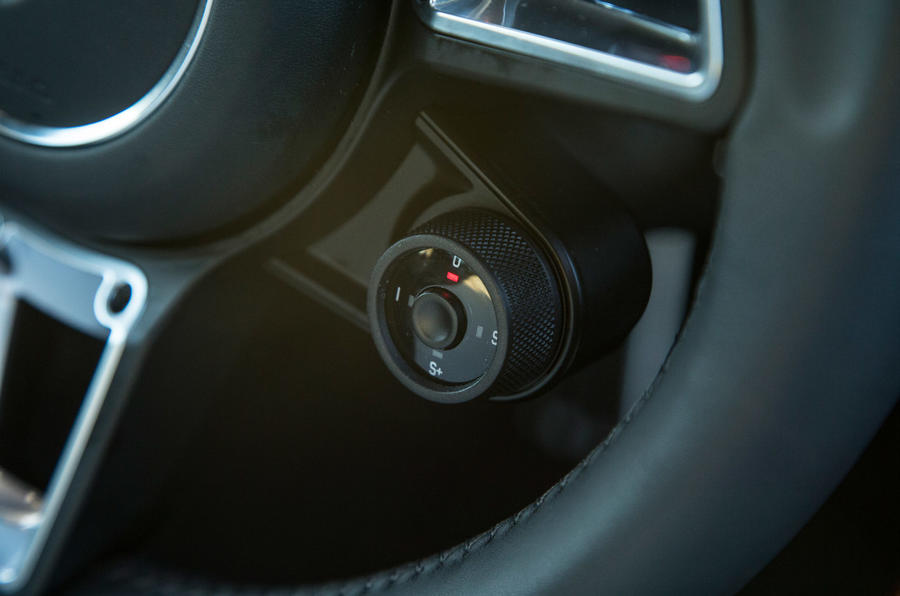 Porsche 911 driving mode selector
