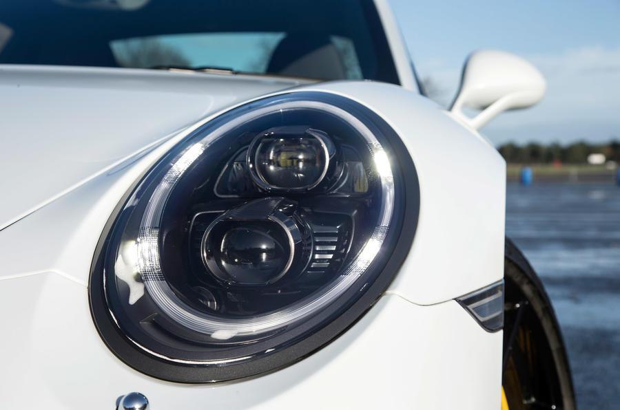 LED lights on the Porsche 911